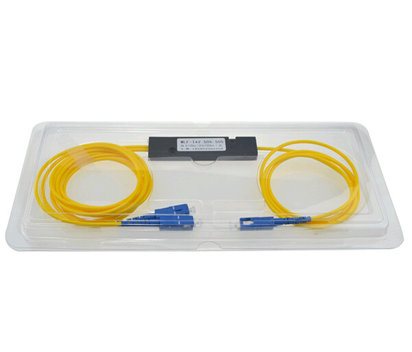 SCUPC 1X2 PLC Singlemode Fiber Optical splitter FTTH SC PC1x2 PLC optical fiber splitter FBT Optical Coupler