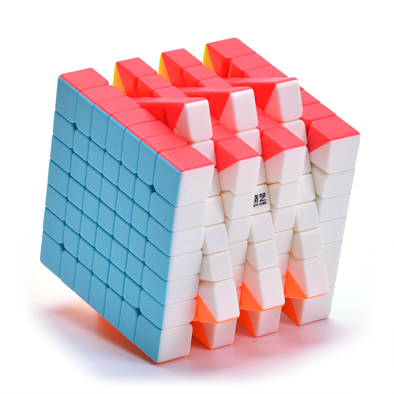 Qiyi Qixing 7x7x7 Speed Cube 7 Layers Black Stickerless Puzzle 7*7*7 Education Toys For Children