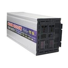 Пик 6000 Вт безсеточный Инвертор Чистая синусоида DC 12 В/24 В к AC 220 В Преобразователь мощности двойной цифровой дисплей для солнечной системы