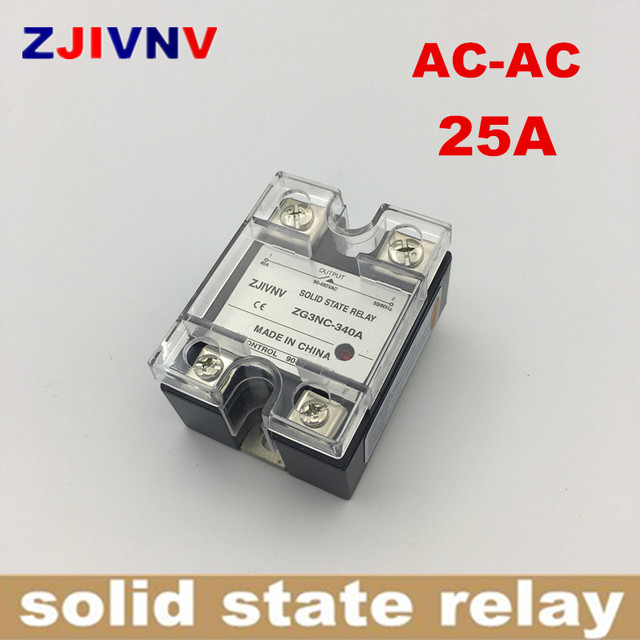AC to AC solid state relay 25A  SSR-25AA , AC relay SSR Zero crossing type full load current ZG3NC-325A Single phase