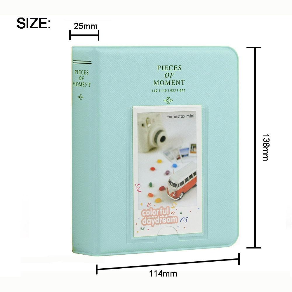 64 Pockets 3 Inch Mini Film Photo Album Book For Fujifilm Instax Mini 9 8 7s 70 25 50s 90 Instant Camera Name Card Holder