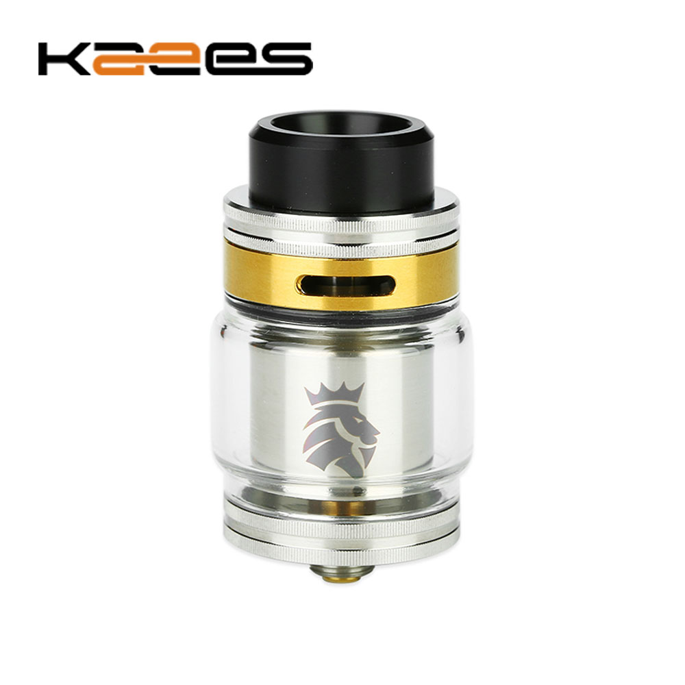 100% Original KAEES Solomon 2 RTA 24mm with 5ml/3.5ml Tank Capacity & Leakproof Top Adjustable Airflow Top Filling E-cig Tank lace contrast tank top