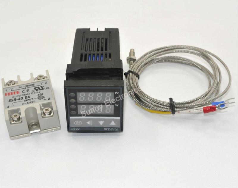 100 240 В цифровой pid Температура контроллер + max.40a ССР + K термопары