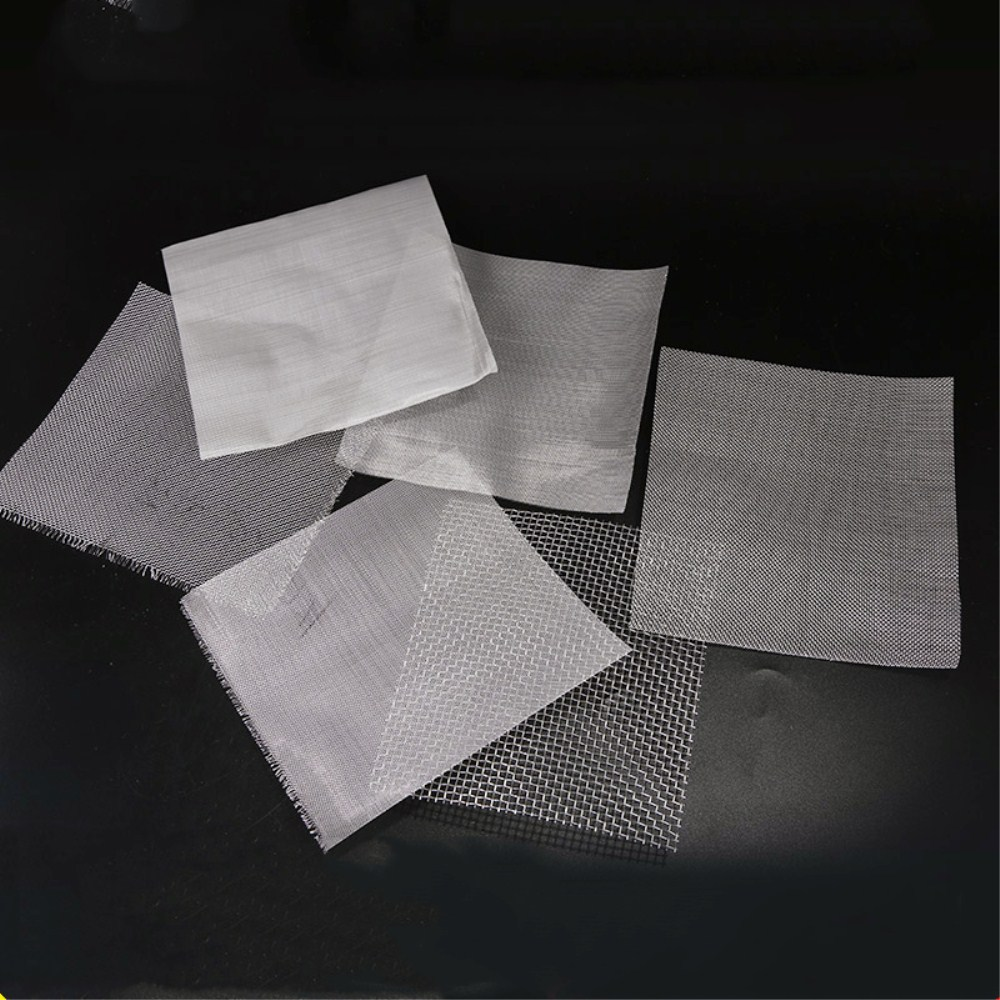 304 Stainless Steel Woven Wire Mesh Screening Filter Screen Square Sheet Filtration Cloth 10 x 10cm 20 - 500 Mesh For Filtering