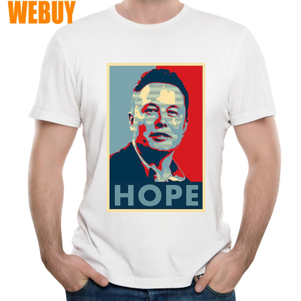 Novelty Elon Musk Hope <font><b>T</b></font> <font><b>Shirt</b></font> For Man New S-<font><b>6XL</b></font> Tee Space X <font><b>t</b></font> <font><b>shirt</b></font> Popular Casual 100% Cotton image