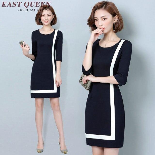3294240ed5 Sukienki biurowe dla kobiet 2018 biznes sukienka ubrania NN0888 Y w ...