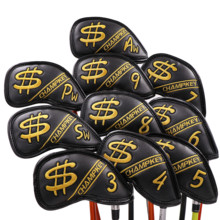 Golf Iron Cover Headcover Golf Iron Head Covers Skull Golf Club Iron Covers Wedges 3 , 4 , 5 , 6 , 7 , 8 , 9 , Aw Free Shipping цены