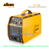 Free Shipping 3 In 1 CT520 CT 520 TIG/MMA/CUT Plasma Cutting Cutter weld New DUBA DC Inverter Welding Machine Made in China