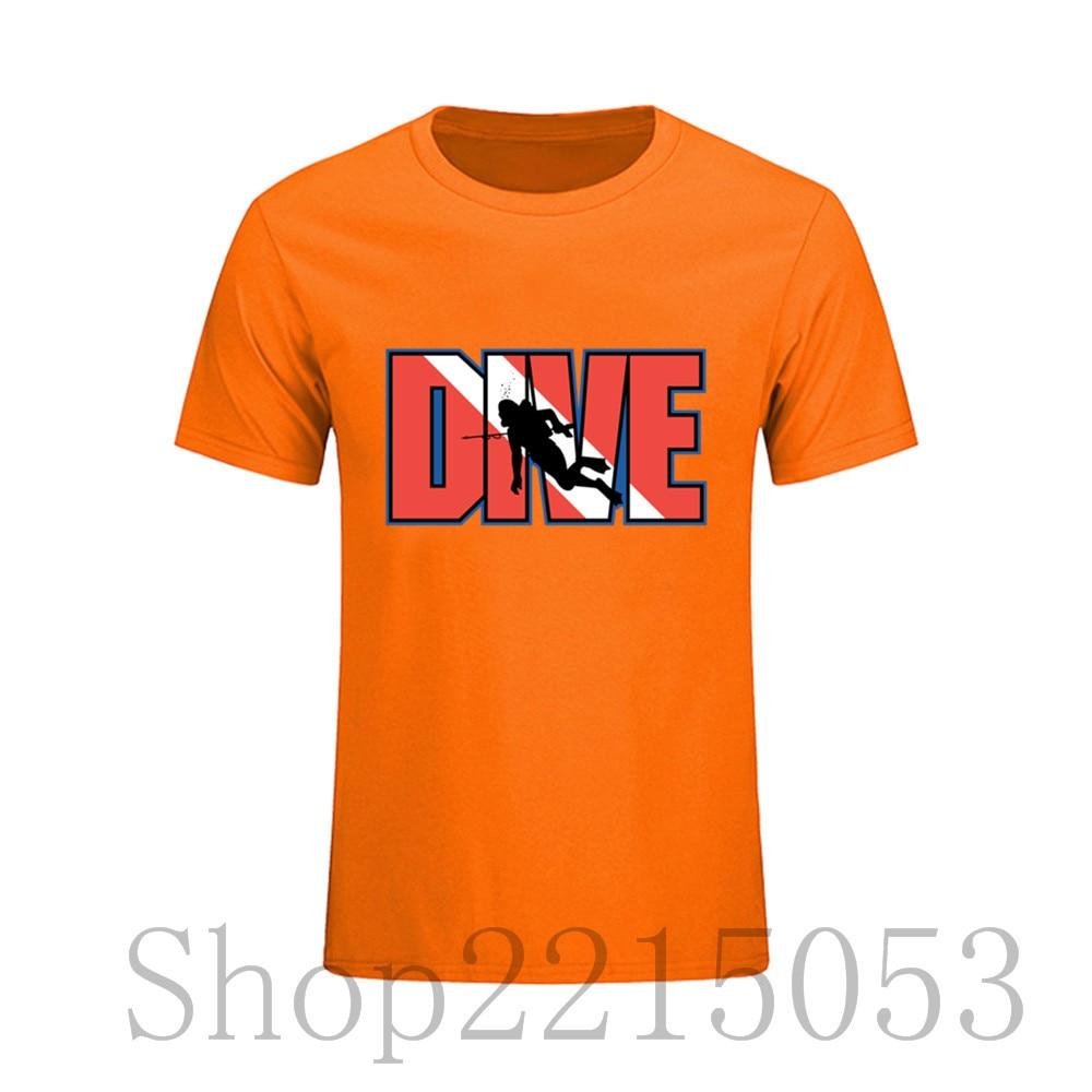 Scuba Dive Mens T Shirt Printed Round T Shirt Cheap Price Novelty O