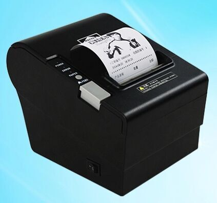 ФОТО Network + USB + serial port three kinds of interfaces integrated together 80mm thermal printer receipt Small ticket barcode prin