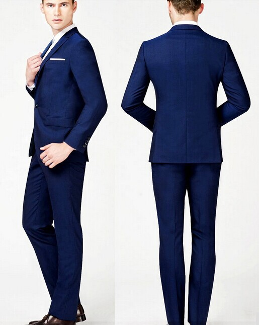 Men Suits 2015 Royal Blue Mens Suit M 0557 Blazer Men Slim
