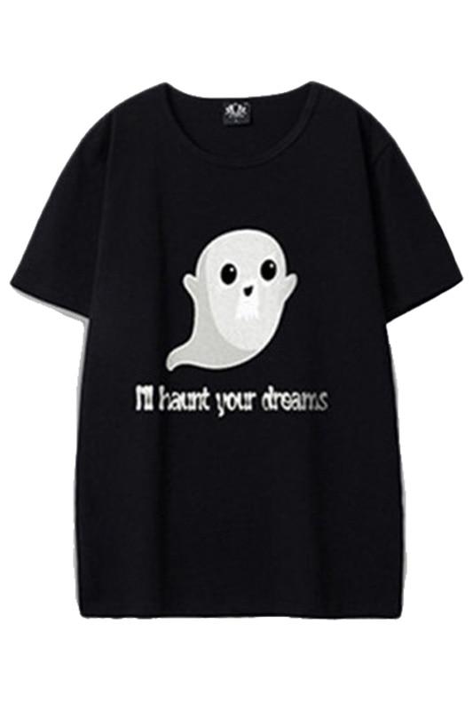 Funny Cute Ghosts Shirt I'll Haunt Your Dreams Printed T shirts Adult Men Creative men's Summer T-shirt