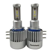 DarkAway H15 LED 電球 60 ワット 8000LM/セット車のヘッドライト高ビームランプ Canbus エラーフリーゴルフ MLK 12 12v ホワイト
