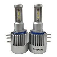 DarkAway H15 LED Bulb 60W 8000LM/set Car Headlight High Beam Lamp Canbus Error Free For Golf MLK 12V White