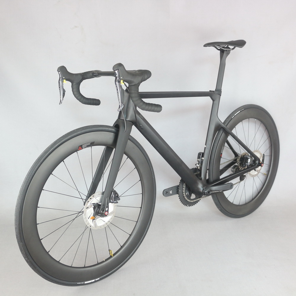 2019 New arrivals Aero Disc brake Road complete bicycle TT x16 with SH1MANO R8070 Di2 groupset DT350 hubs ceter lock wheel .