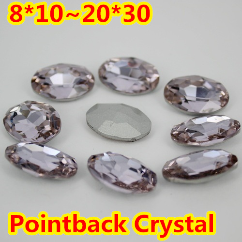 Violet Oval Shape Crystal Fancy Stone Point Back Glass Stone For DIY Jewelry Accessory.10*14mm 13*18mm 18*25mm 20*30mm violet oval shape crystal fancy stone point back glass stone for diy jewelry accessory 10 14mm 13 18mm 18 25mm 20 30mm