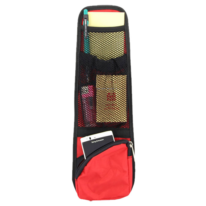 New & Useful Car Interior Seat Covers Hanging Bags with Storage Pockets Seat Bag of Chair Side(Red)