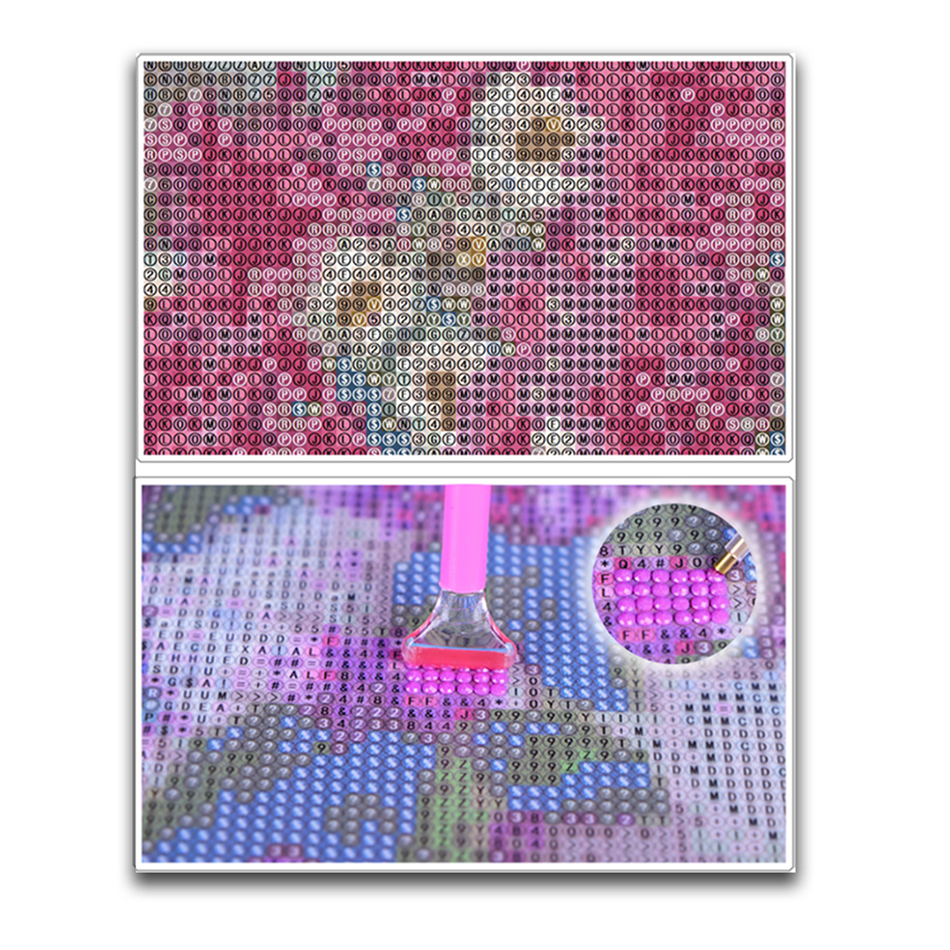 Full Square Rhinestone 5D DIY Diamond Painting Cross Stitch Beauty and Wolves Diamond Embroidery Scenery Mosaic Decor Gift YSD