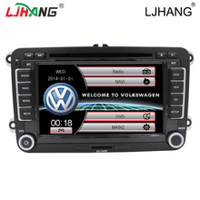 "7 ""2 din navegación DVD GPS Canbus para VW B6 integre Avanzada Passat Sagitar GOLF Jetta TOURAN dvd Del Coche de Radio audio Freemap SWC"