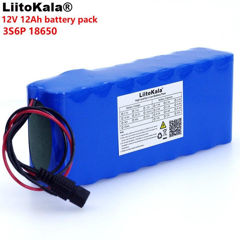 LiitoKala 12 v 12A 18650 Au Lithium Batterie 12000 mah Capacité Au Lithium Batterie avec BMS 75 w serrure Électronique Caméra de surveillance UES