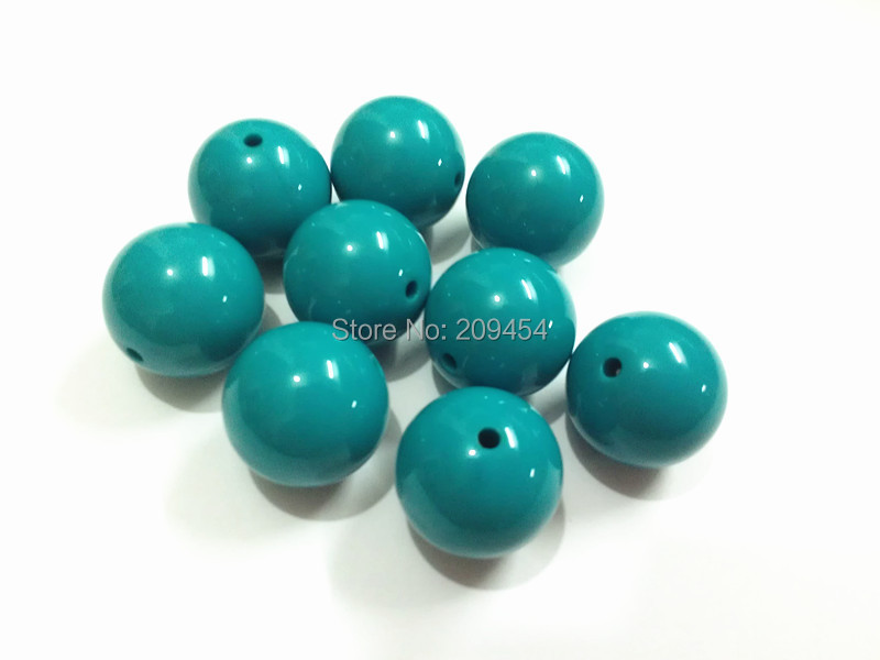 New ! 20MM 105pcs/lot  Fall Color Blue Chunky Gumball Bubblegum Acrylic Solid Beads For Kids Necklace Making