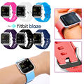 Adjustable Fitbit Blaze Silicon Wristband Strap Bracelet Watch Replacement Large&Small with Stainless Steel Clasp In 11 Colors