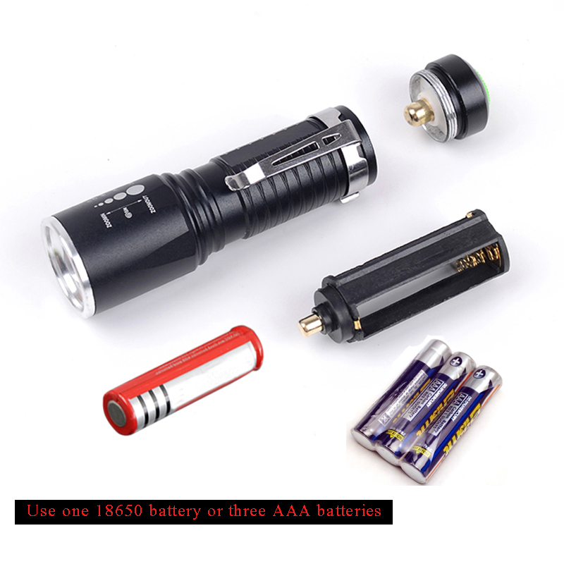 8000 Lm NEW X-XML T6 LED Flashlight Zoomable Waterproof 18650//AAA Torch lamp O✿