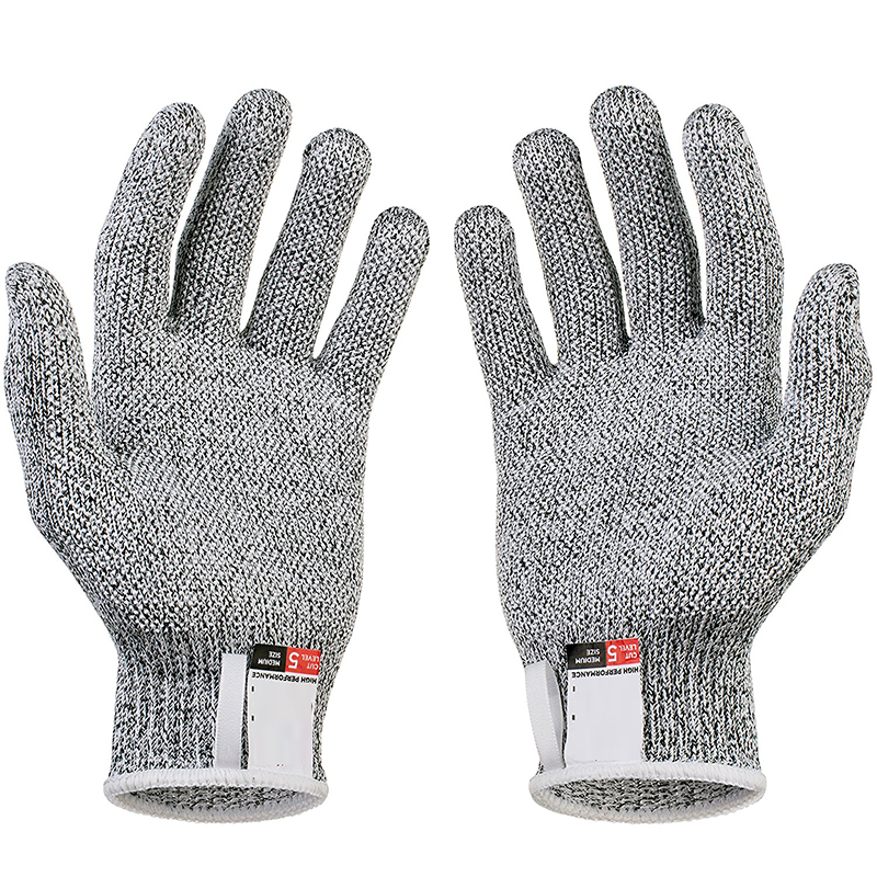 HATOSTEPED Anti-cut Gloves Safety Cut Proof Stab Resistant Stainless Steel Wire Metal Mesh Butcher Cut-Resistant Safety Gloves