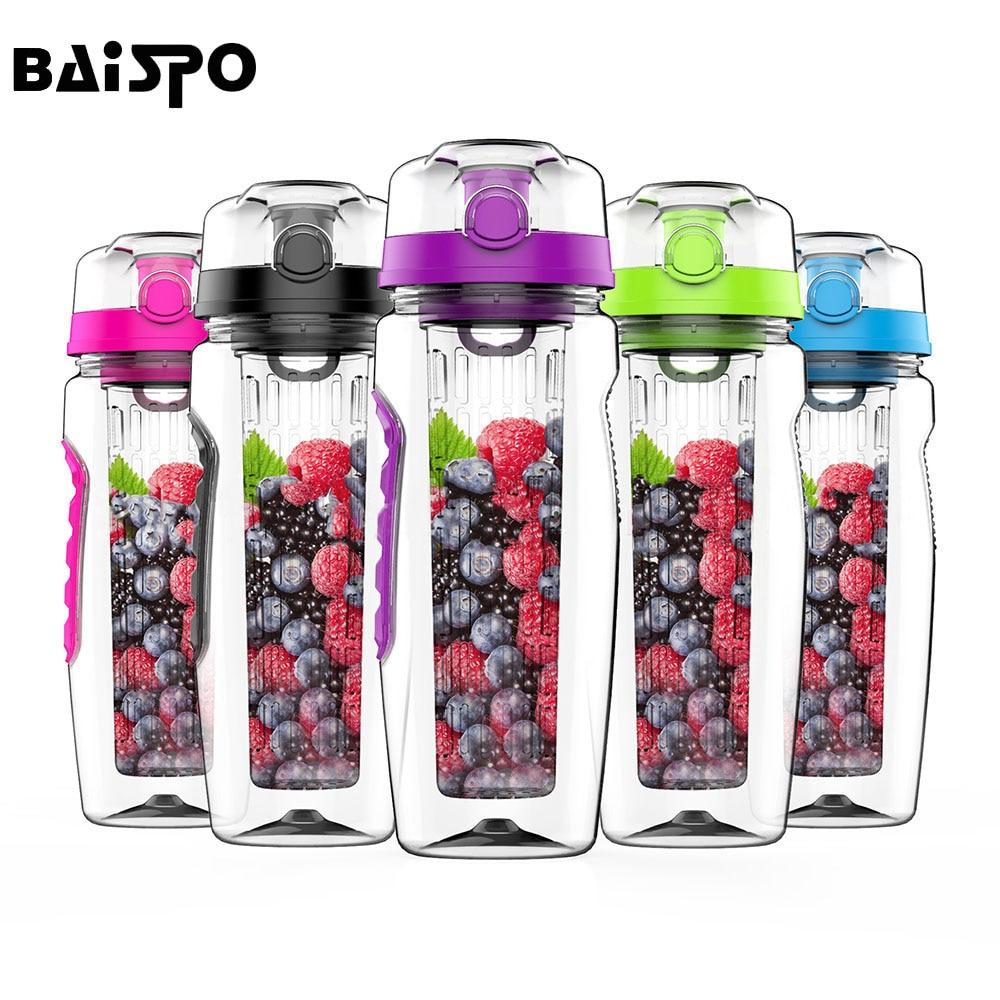 BAISPO 32 unzen 900ml BPA Freies Obst Infuser Saft Shaker Sport Zitrone Wasser Flasche Tour wandern