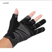 TSURINOYA Outdoor Fishing Gloves Anti-Slip Breathable 1pair 3 Finger Cut Wear-resisting Gloves