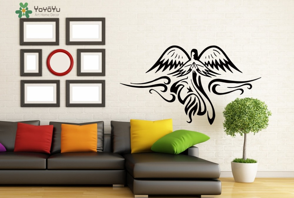 Abstract Bird Vinyl Wall Stickers For Livingroom Window Art Mural Playroom Removable Wall Decal Home Interior Decor Design SY442 in Wall Stickers from Home Garden