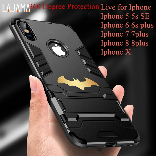 more photos 00c9b 07edb US $3.39 |360 degree Strong Protection Phone cases for Iphone 6 6s Plus  cases AntiKnock Mobile Phone cover for Iphone 5 5s se 7 8 plus X-in Fitted  ...