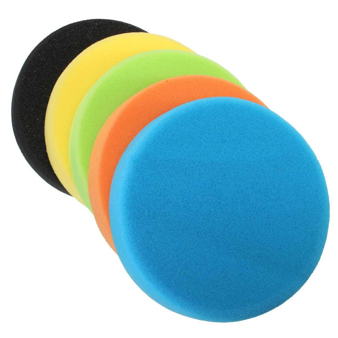5PCS 6 Inch (150mm) Flat Sponge Buff Buffing Pad Polishing Pad Kit Car Polisher