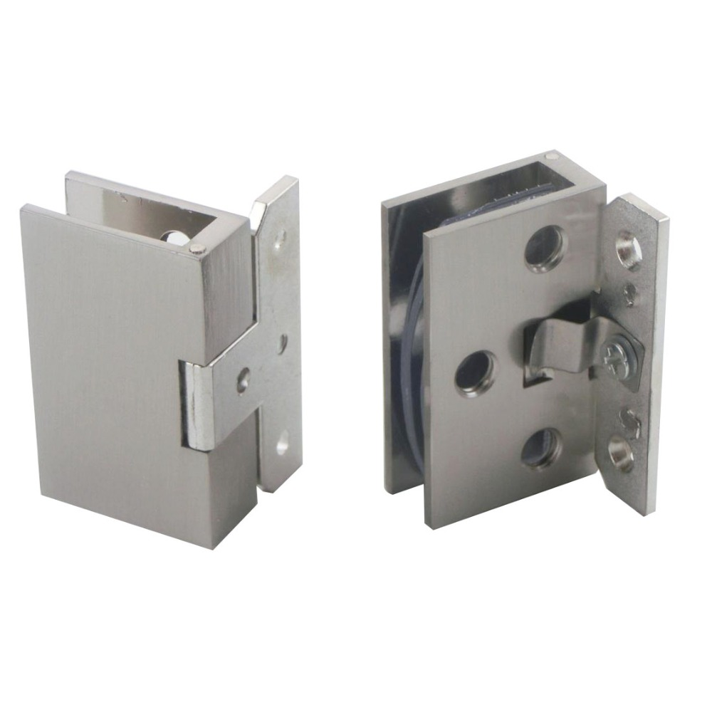 2pcs Cabinet Wall to Glass Door Hinge Clamps Fit 8-10mm Shower Glass Hinge Clips hot sale 180 degrees positioning cabinet glass hinge wine cabinet door hinge cabinet door glass hinge up and down hinge kf219
