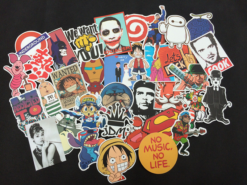 50 pcs Mixed funny hit stickers for kids Home decor jdm on laptop sticker decal fridge