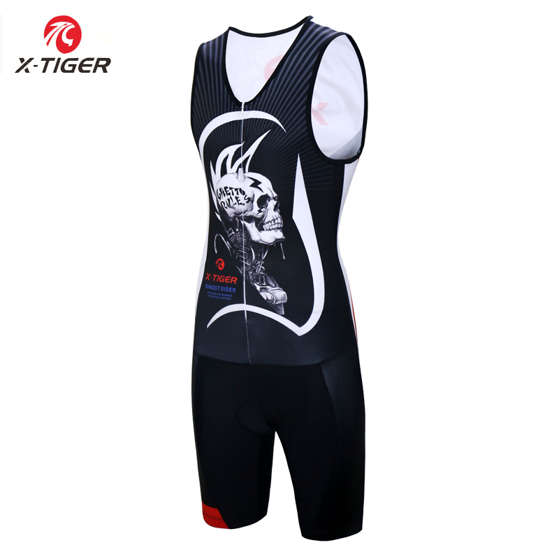 X Tiger Triathlon Cycling Jersey Sleeveless Skinsuit Bike Clothes Men s Sleeveless Anti Pilling Cycling Clothing