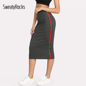 67290aeef SweatyRocks Pencil Skirt Women Long Length 2018