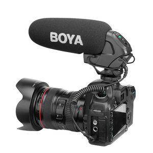 Image 2 - BOYA BY BM3031 On Camera Shotgun Microphone 3 Level Gain Control Condenser Mic for DSLR Audio Recorders Studio Video Interview