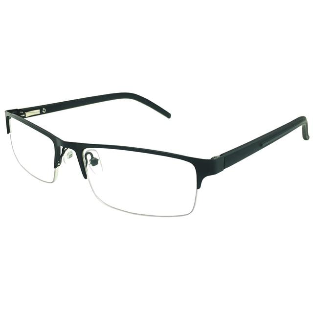 b10837e8161cc Classic Spring Hinge Half Rim Reading Glasses Readers Eyeglasses Brand Eyewear  Mens Womens Black Blue Gray Half Rim Spectacles-in Reading Glasses from ...