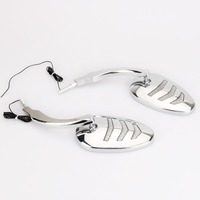 Motorcycles Sequential LED Turn Signal Mirrors for harley dyna sportster led mirrors chromed
