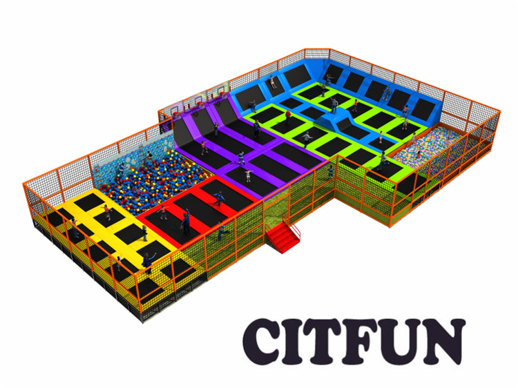 30 18m customized design sky zone trampoline park with ce for Indoor trampoline park design manufacturing