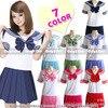 Hot Sale School Wear For Girls Cosplay School Uniform Sailor Suits Top Tie Skirt Suit Girls
