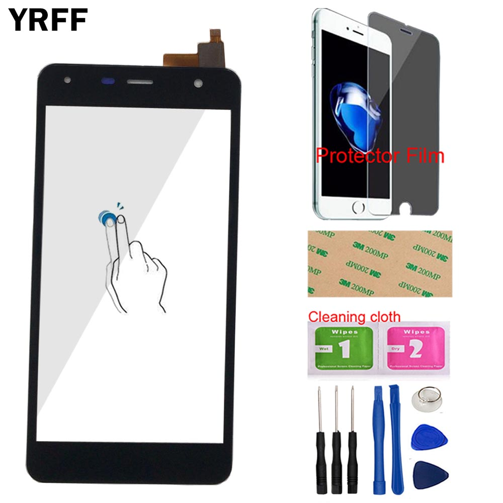 YRFF 5.0'' <font><b>Touch</b></font> Scren Panel For Fly <font><b>FS517</b></font> Cirrus 11 FS 517 <font><b>Touch</b></font> Screen Digitizer Front Glass Lens Panel Sensor Protector Film image