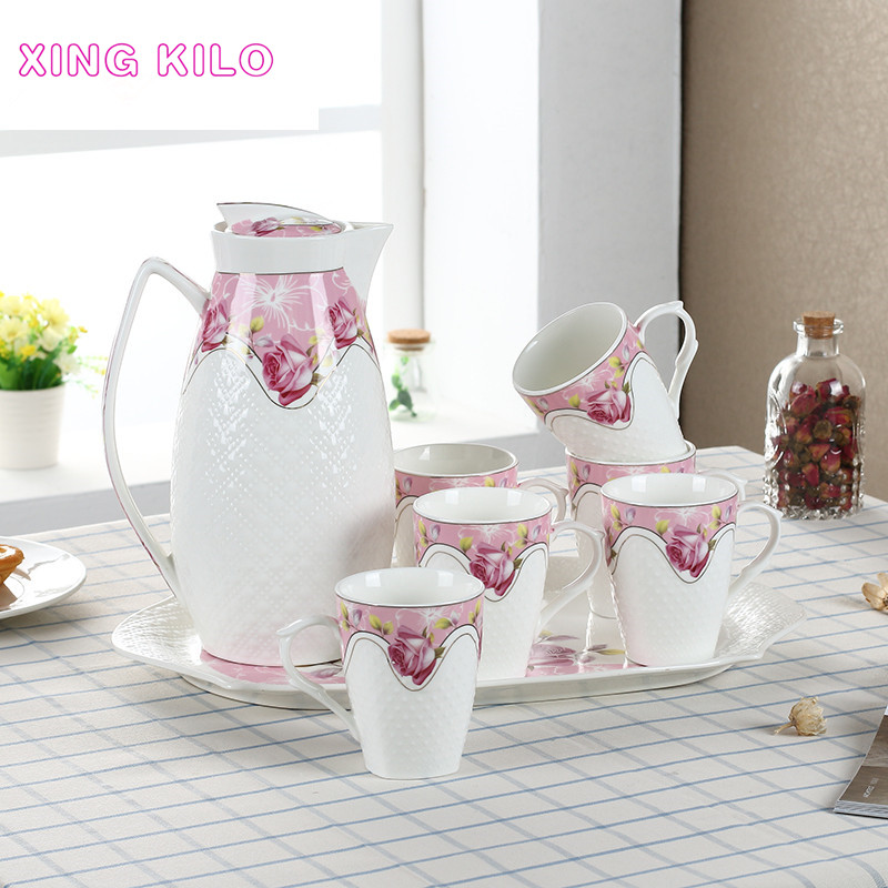 XING KILO Household Set Ceramic Creative Cold Kettle High temperature Cup Continental