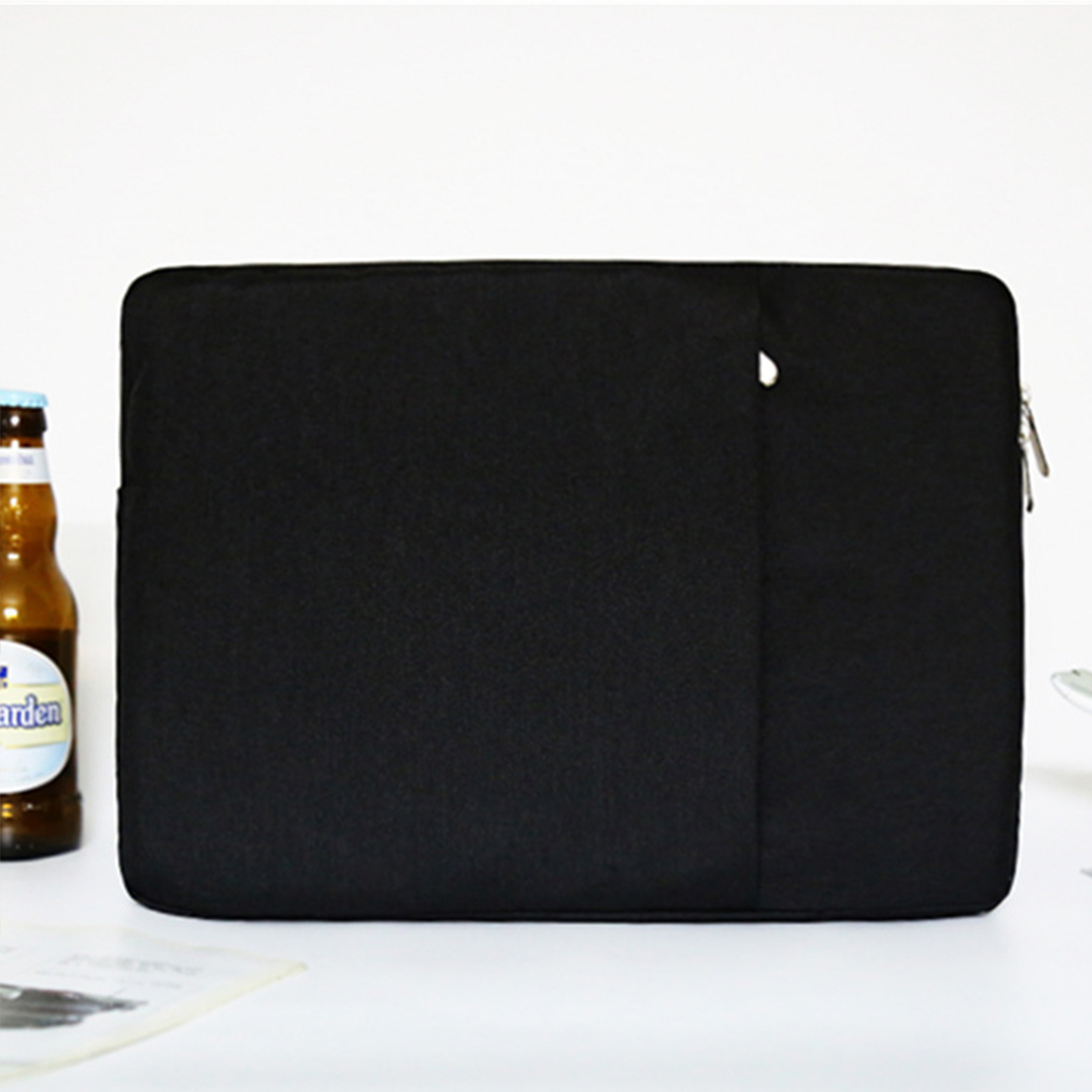 Image 4 - Nylon Laptop Sleeve Notebook Bag Pouch Case for MacBook air pro 11.6 13.3 15 Unisex Liner Sleeve Simple-in Laptop Bags & Cases from Computer & Office