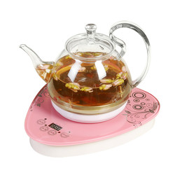 Electric kettle The thermo-heated glass electric is used to make tea in boiled black