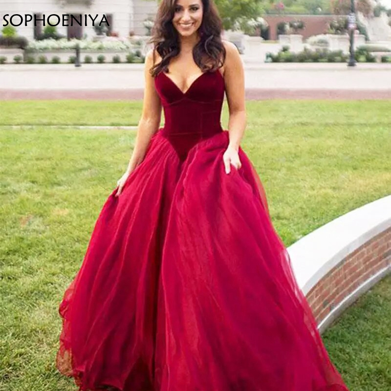 New Arrival Burgundy Evening dress 2019 Robe Longue Sexy Women Elegant Long Prom Dresses occasion dresses for women