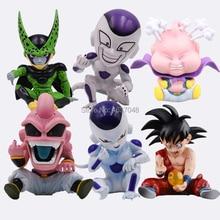 11cm Anime Dragon Ball Z Son Goku Child Majin Buu Cell Freeza Frieza Buruma Bulma PVC Action Figure Toys Model Kid