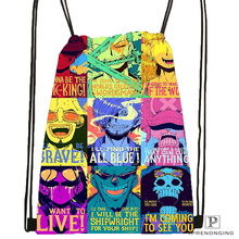 Custom One Piece 01 Drawstring Backpack Bag for Man Woman Cute Daypack Kids Satchel Black Back