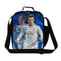 Gareth Bale lunch bags para meninos isolados almoço reutilizável contaienr para crianças, saco do refrigerador do almoço sacos para adolescentes pequena refeição saco